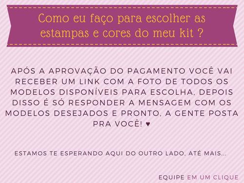 kit 6 blusa blusinha rosa flor coleira choker você escolhe!