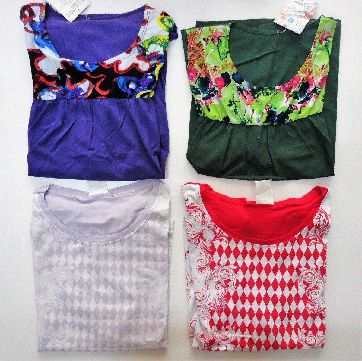 kit 6 blusas femininas estampadas e lisas liquida estoque. Carregando zoom. 3421664b1bd81