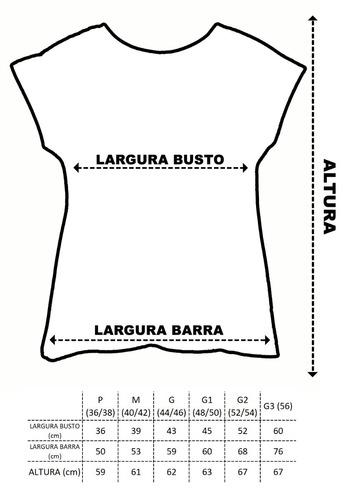 kit 6 blusas femininas plus size manga japonesa