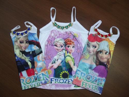 kit 6 blusinha infantil enfeite coração personagens princesa
