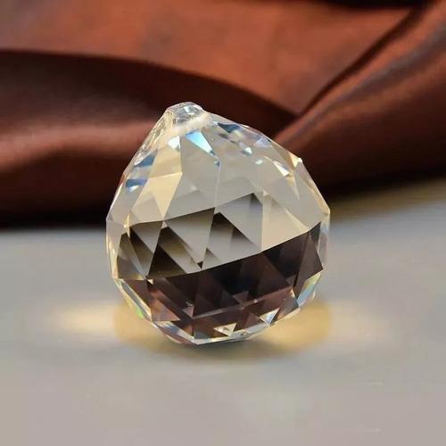 kit 6 bolas esferas multifacetada cristal k9 20mm feng shui