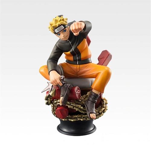 kit 6 bonecos action figure naruto sasuke kakashi gaara s006