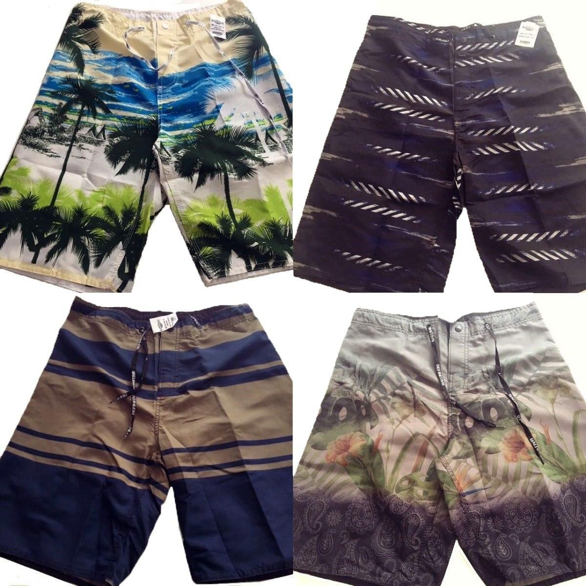 5fc5044ead kit 6 calção bermuda masculina adulto banho praia piscina. Carregando zoom.