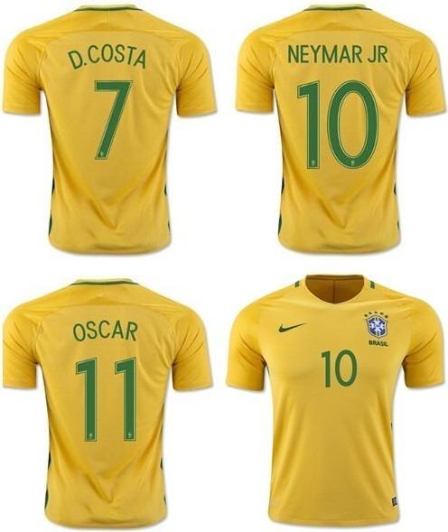 Kit 6 Camisa Brasil Adu. 1 Infantil Personalizada Com Nome!! - R ... 69c38ce7107c4