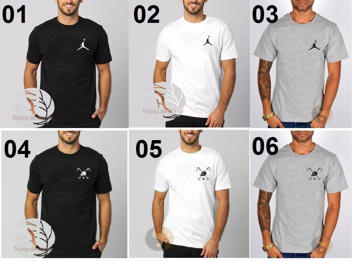 ccfcf98610 Kit 6 Camisa Masculina Polo Play Camiseta Jordan Algodão. - R  159 ...