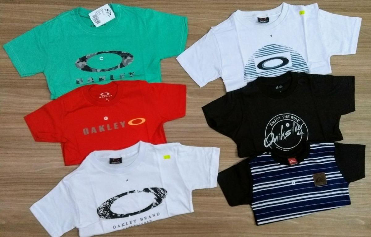Kit 6 Camisas Infantil Camisetas Menino Marcas Oakley Quik - R  149 ... 136b3d01fc8b7