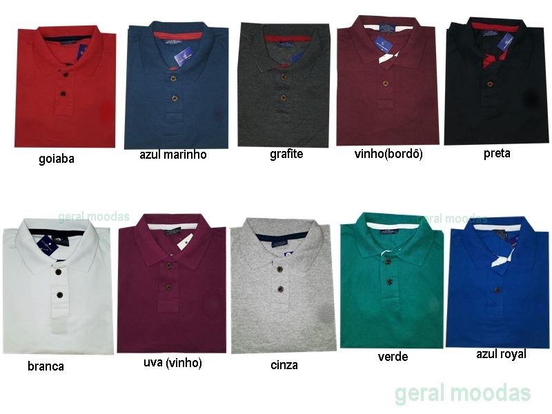 87830e072c kit 6 camisas plus size masculina gola polo xg xgg xxg. Carregando zoom.