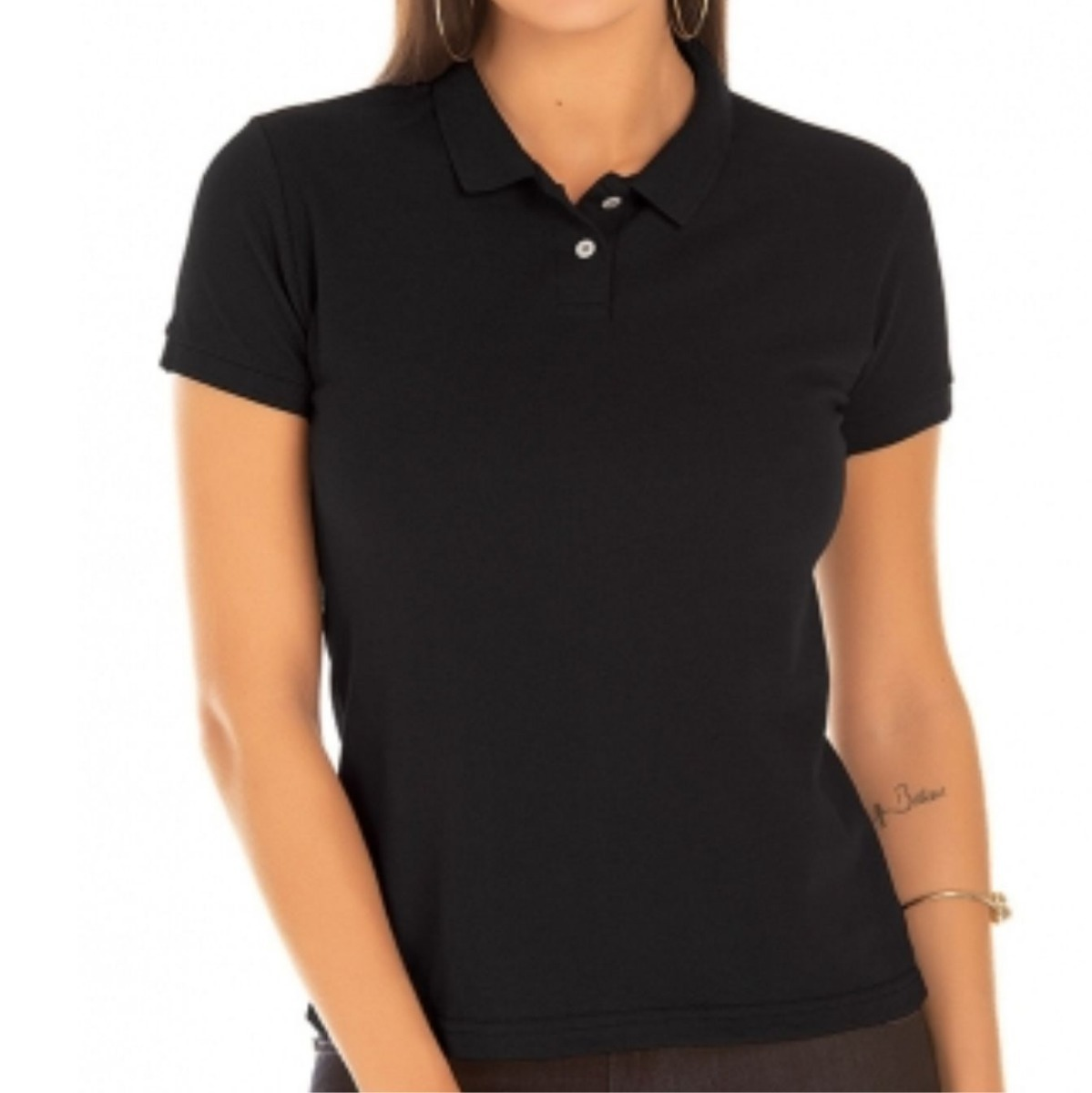 4b17d08a0a kit 6 camisas polo feminina lisa sem estampa. Carregando zoom.