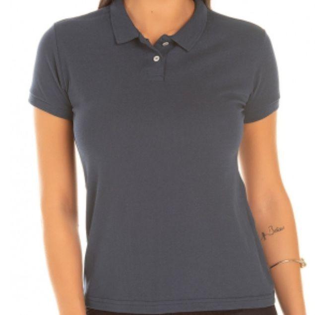 b9c52620c7 Kit 6 Camisas Polo Feminina Lisa Sem Estampa - R  135