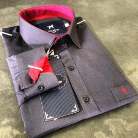 f5d85ba52d Kit 6 Camisas Social Tricoline Bordado Logo Empresa Uniforme