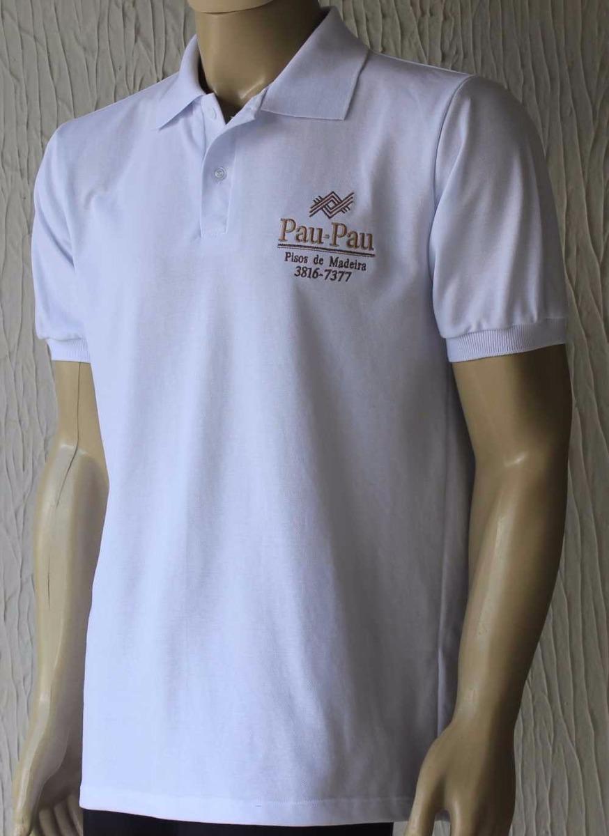f49ee6963 kit 6 camiseta polo bordada personalizada masc ou feminina. Carregando zoom.