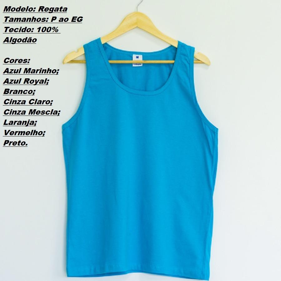 kit 6 camiseta regata masculina algodão preço atacado rev. Carregando zoom. a6346455bf8