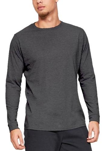 kit 6 camisetas atacado manga longa moda slim fit masculinas