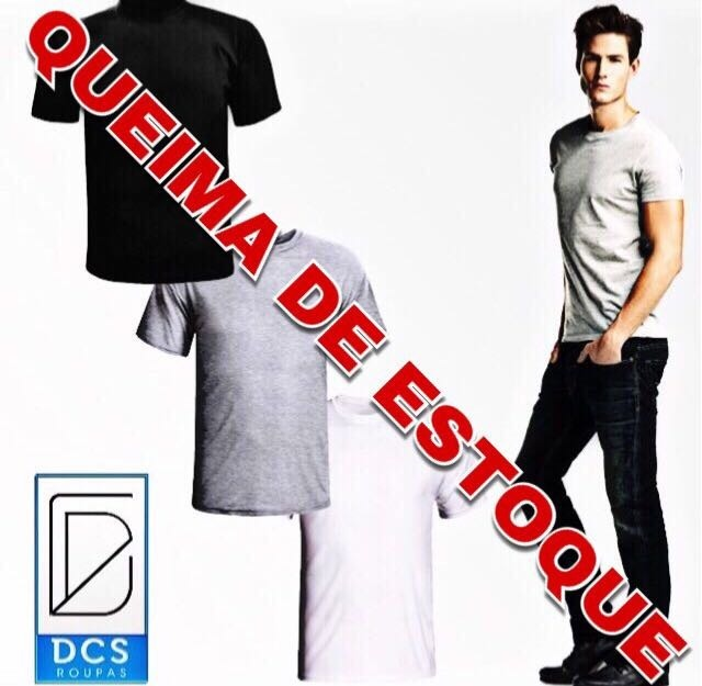 1cb4eafba Kit 6 Camisetas Masculinas Cinzas Lisas Atacado Barato - R  119