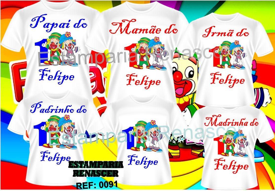 kit 6 camisetas personalizadas aniversario patati patata. Carregando zoom. 4f2f40e89e6