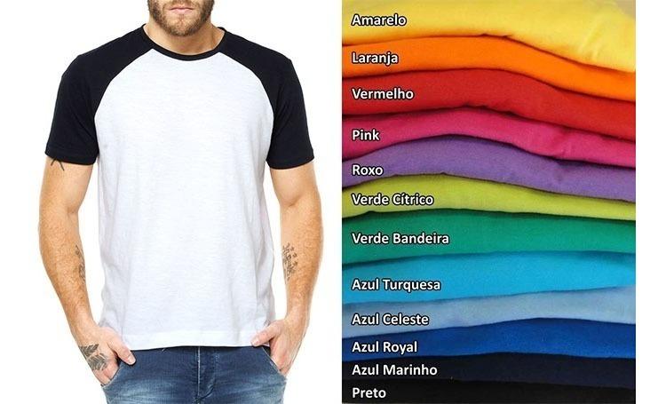 3e1b773f5d Kit 6 Camisetas Raglan Manga Curta Tamanho Grande Sublimação - R ...