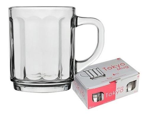 kit 6 caneca xicara de vidro taca cappucino tokyo para cafe