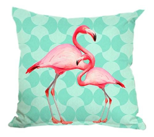 kit 6 capa almofada tropical flamingo abacaxi