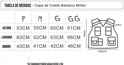 kit 6 capa de colete balístico tático segurança privada