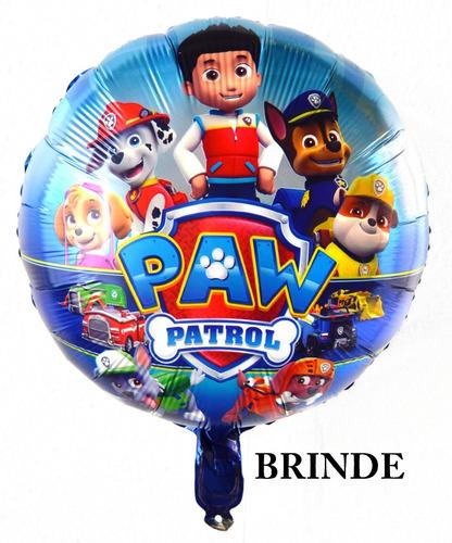 kit 6 carrinhos boneco patrulha canina de fricção + brinde