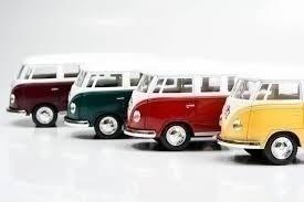 kit 6 carrinhos ferro volkswagen kombi combi perua 1962 ki07