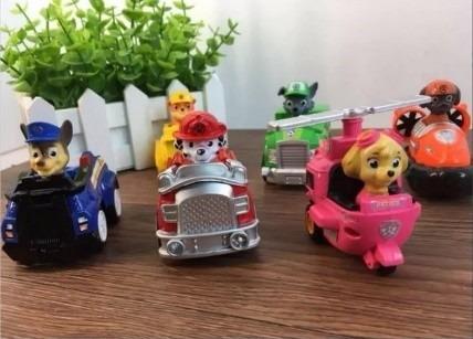 kit 6 carrinhos fricção patrulha canina paw patrol brinquedo
