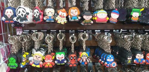 kit 6 chaveiros borracha personagens filmes de terror anime