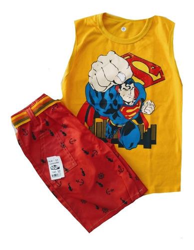 kit 6 conjunto roupa menino masculino personagens atacado