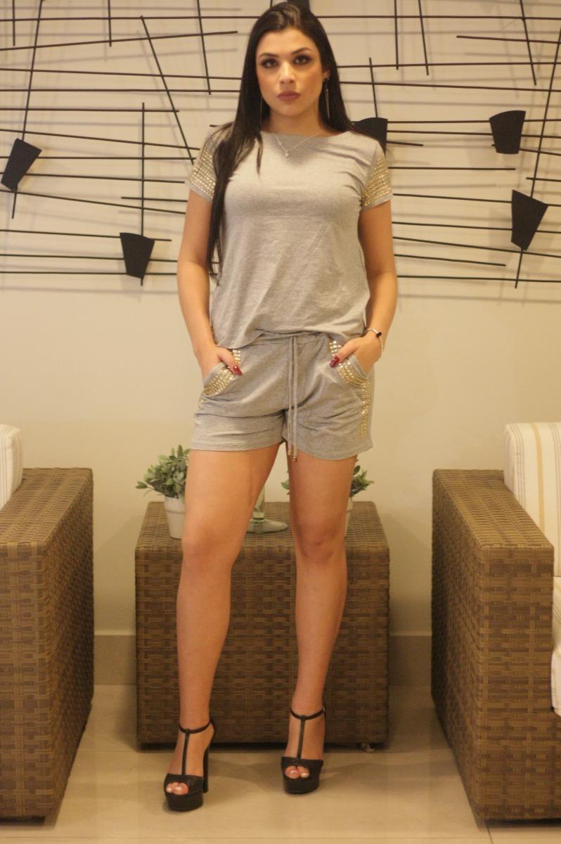 1225157ce kit 6 conjuntos pedraria shorts + blusa moda pop roupas femi. Carregando  zoom.
