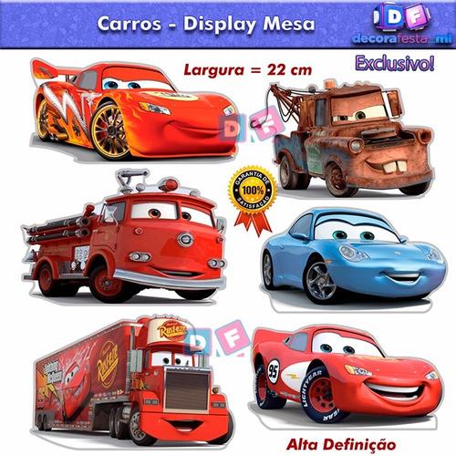 kit 6 display carros mdf festa infantil decoração lindo 4,80