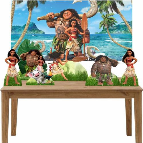 kit 6 displays de mesa e painel moana painel 100x70cm
