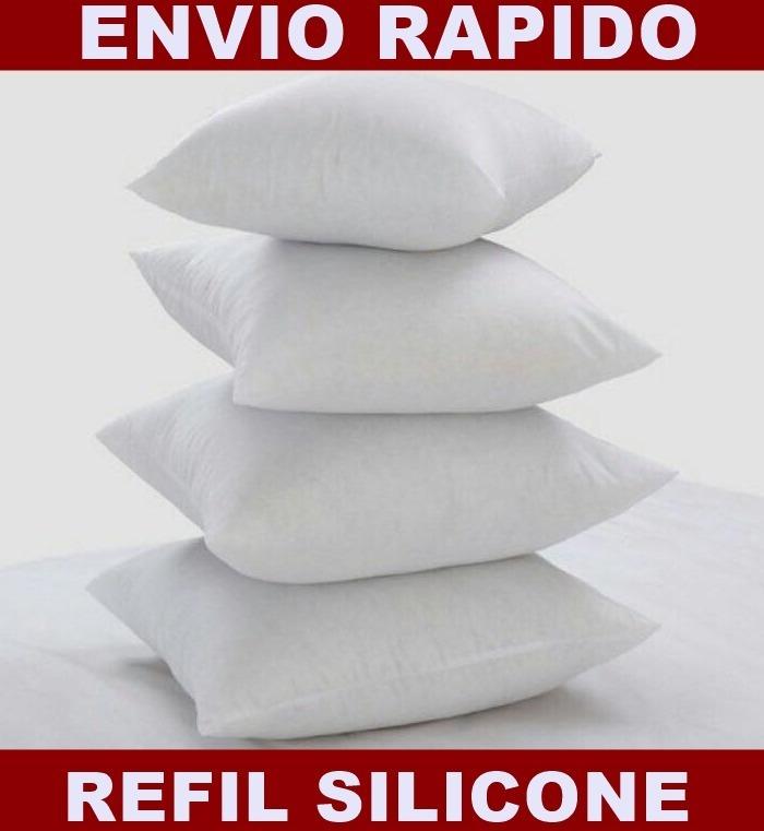 bad016e7814356 Kit 6 Enchimento Refil Almofada 50 X 50 Silicone Super Macio