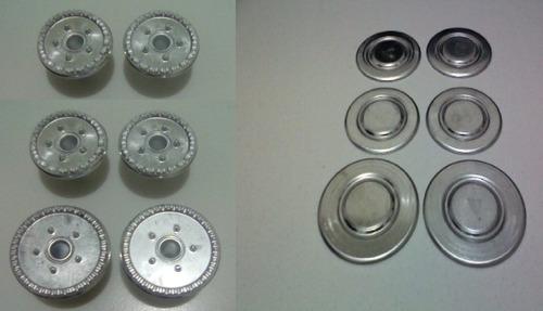 kit 6 espalhadores aluminio +6 sorvetes genova
