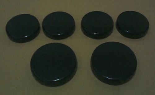 kit 6 espalhadores para dako muler ( 4 de 6 cm+ 2 de 8 cm)
