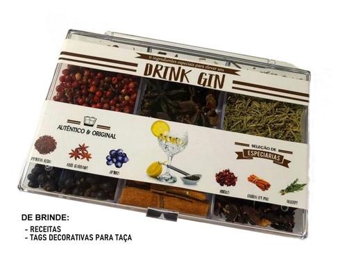 kit 6 especiarias gin tônica - para levar dentro da bolsa