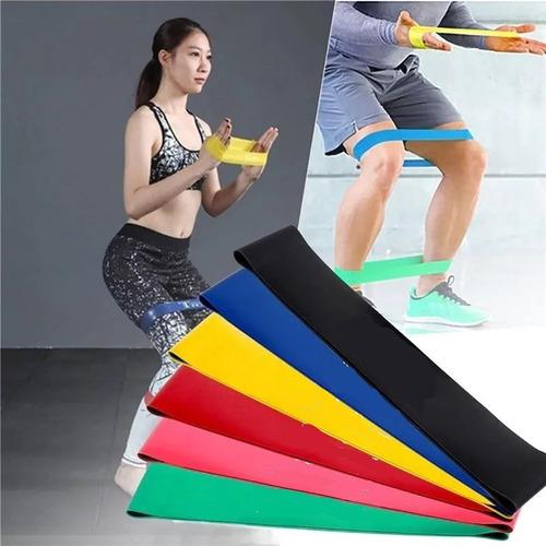 kit 6 faixa elástica thera band fitness mini bands promoção