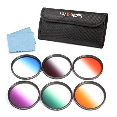 kit 6 filtros degradado k&f con estuche