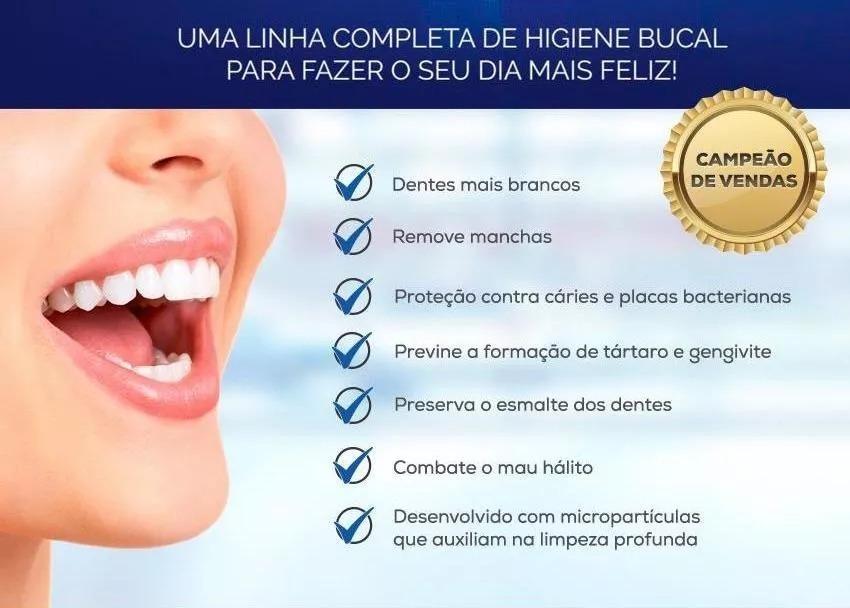 Kit 6 Gel Clareador Dental Dentes Brancos Pro White Hinode R 54