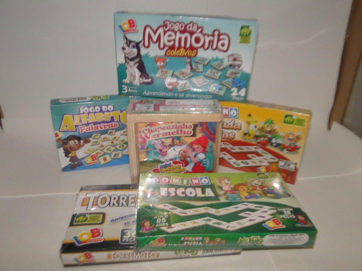 Kit 6 Jogos Memória 6e558d3b265aa