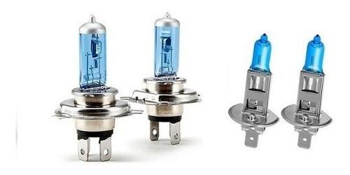 kit 6 lampadas super branca farol + milha  pajero sport