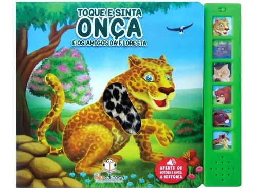 kit 6 livros infantis coleção livro sonoro toque e sinta