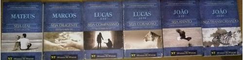 kit 6 livros wiersbe - comentário bíblico dos evangelhos