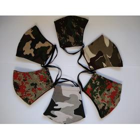 Kit 6 Máscaras De Tecido Camufladas