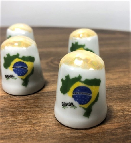 kit 6 mini dedal de porcelana brasil