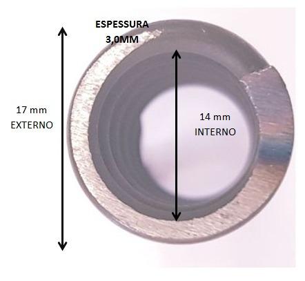 kit 6 mola carabina pressão cbc/rossi 2-32 2-39 2-41 voltas