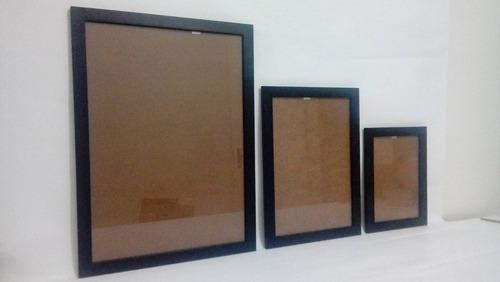 kit 6 molduras decorativas para parede 2 a3, 2 a4, 2 a5
