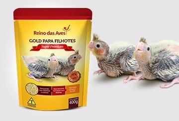 kit 6 papinha gold papa filhotes calopsita papagaio pássaros