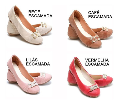 ac50a43ad Kit 6 Pares Sapatilha Feminina Atacado Sapatos Femininos - R$ 157,20 ...