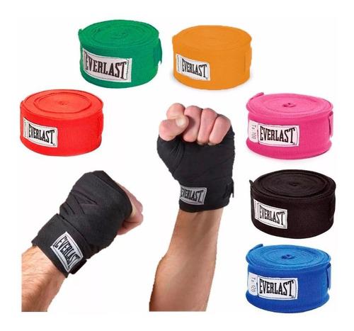 kit 6 pares vendas everlast de boxeo 120 mma artes marciales