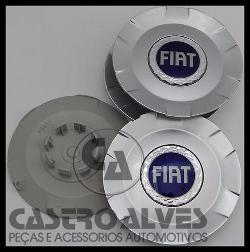 kit 6 pçs calota calotinha tampa roda aro 15  fiat stilo